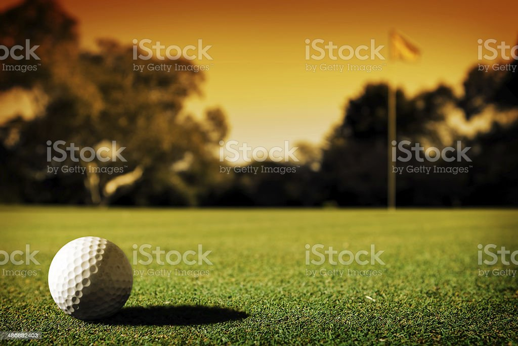 Long Putt stock photo