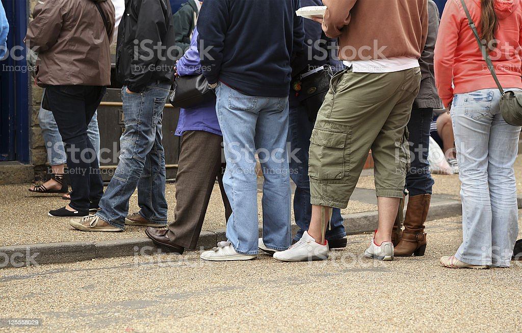 Long Queue stock photo