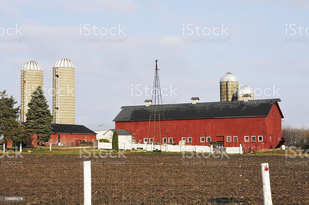 Long Red Barn royalty-free stock photo