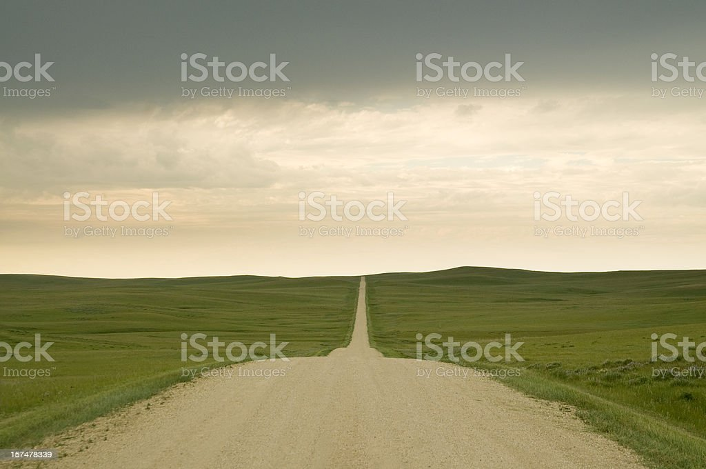 Long Road Ahead royalty-free stock photo