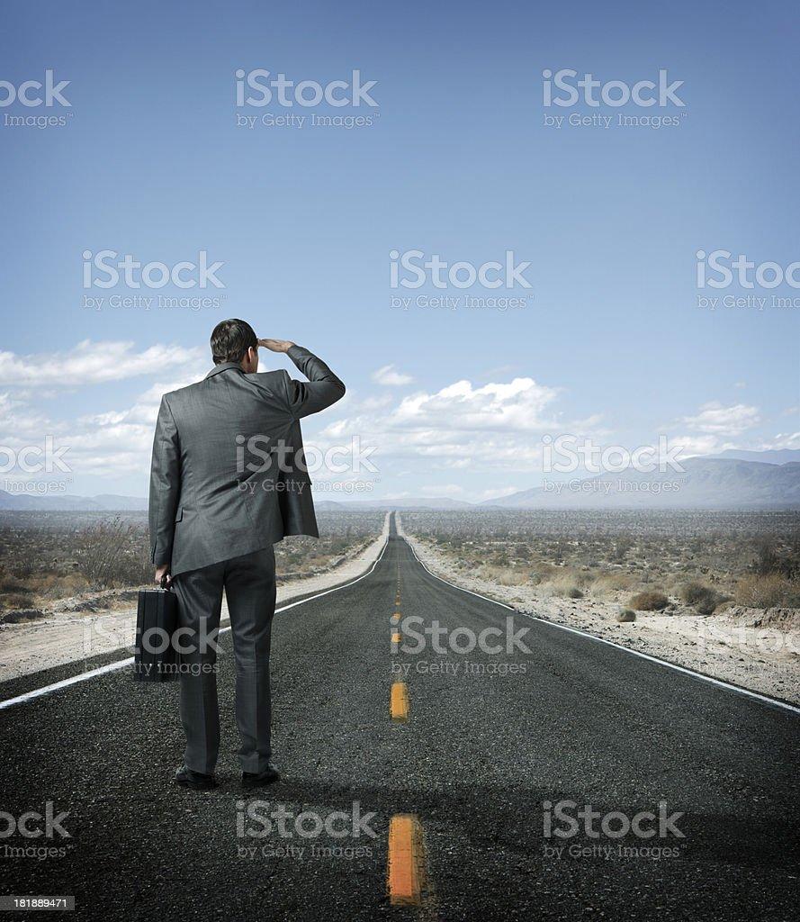 Long Road Ahead royalty-free stock photo
