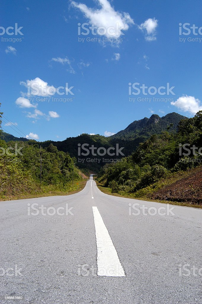 Long Road Landscape royalty-free stock photo