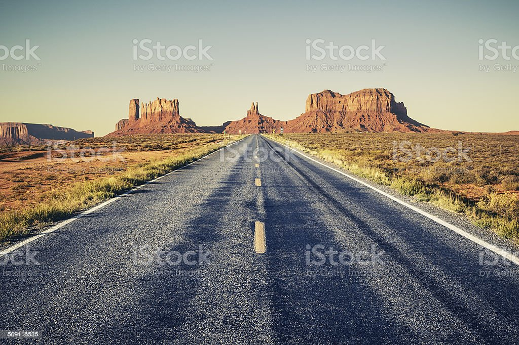 Long road stock photo