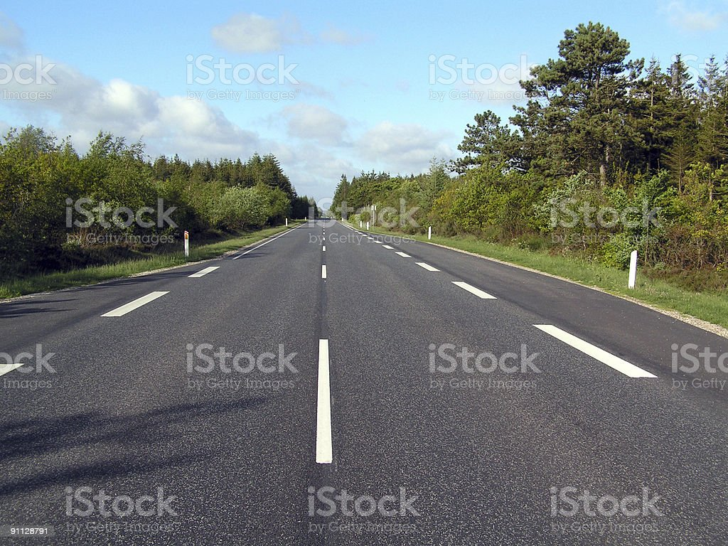 long road with horizon and sky royalty-free stock photo