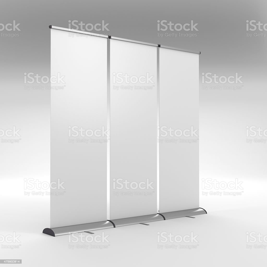 long rollups or banners stock photo