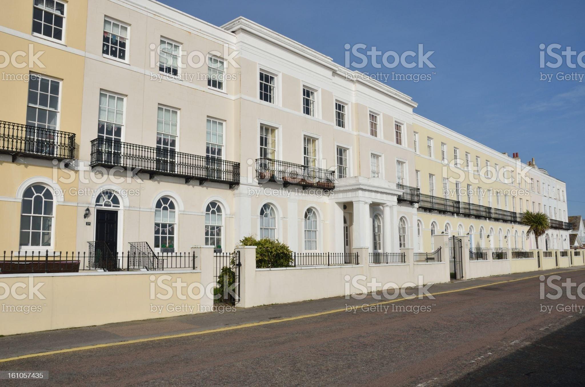 long row of urban houses royalty-free stock photo