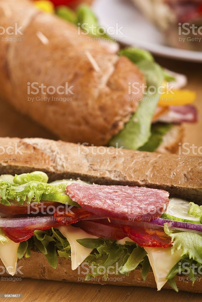 long sandwiches royalty-free stock photo