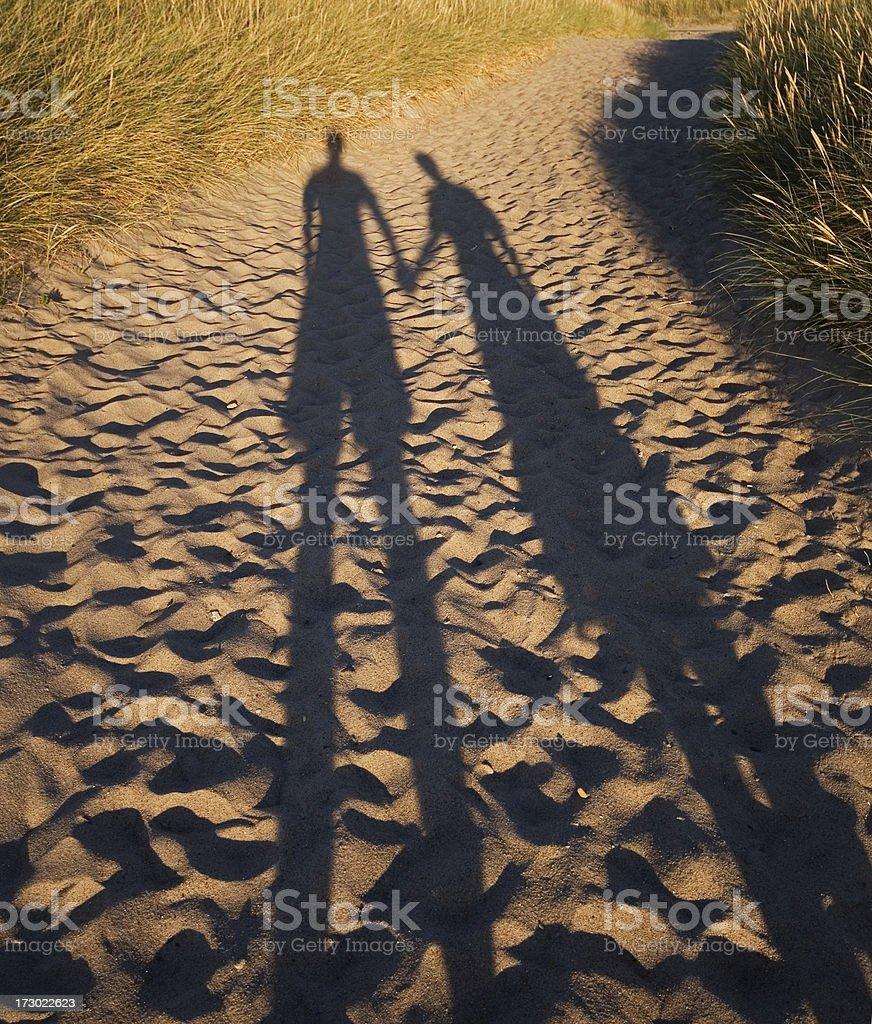 Long shadows of love royalty-free stock photo