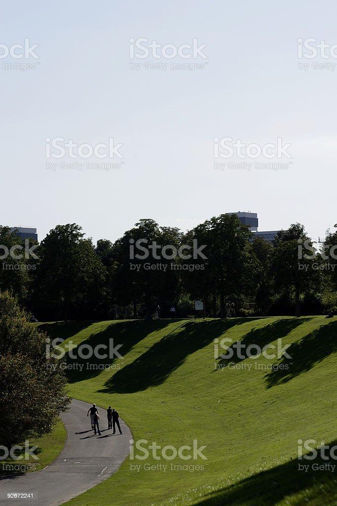 long shadows royalty-free stock photo