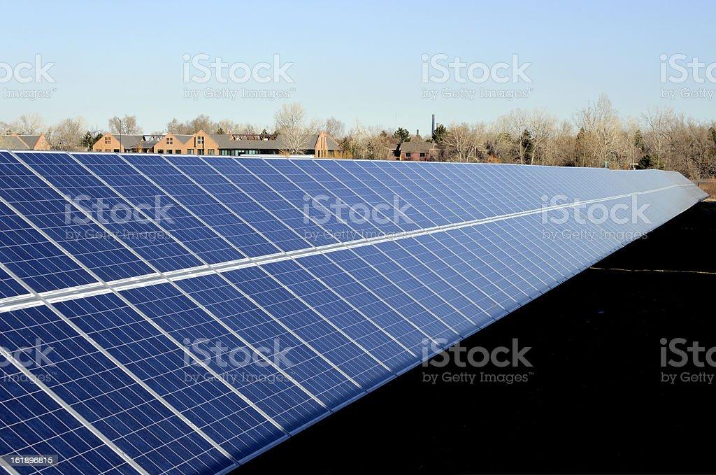 Long Solar Array royalty-free stock photo