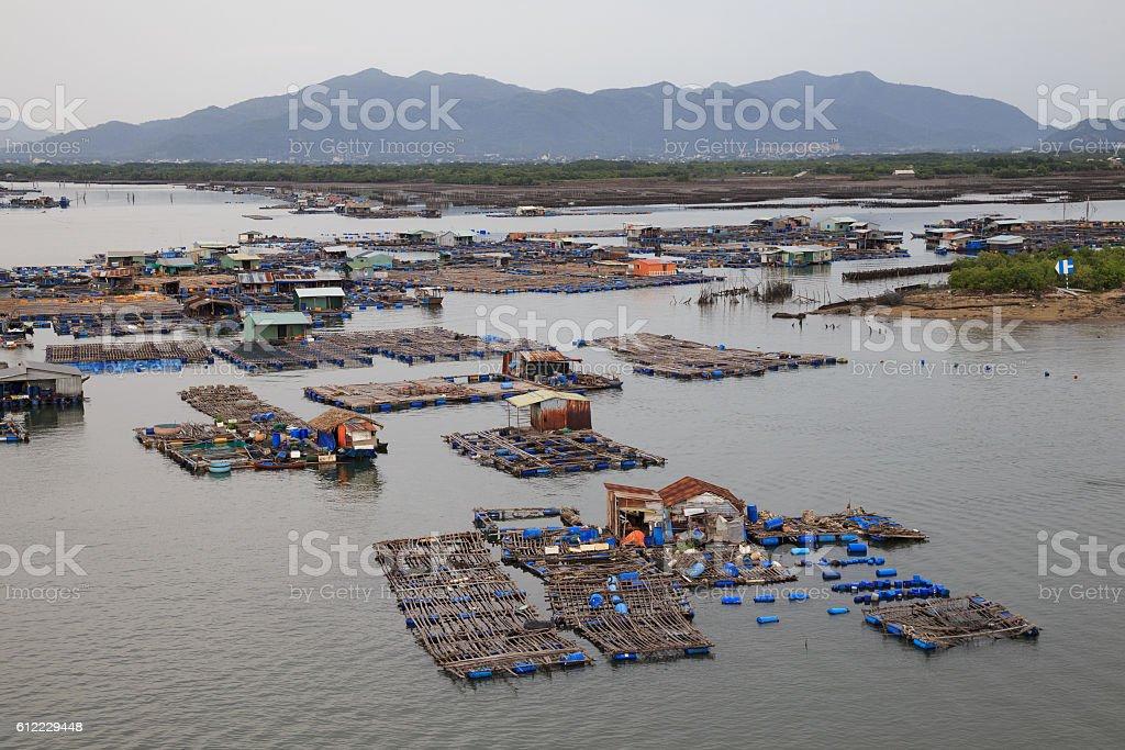 Long Son float fishing village, Long Son, Long Hai. royalty-free stock photo