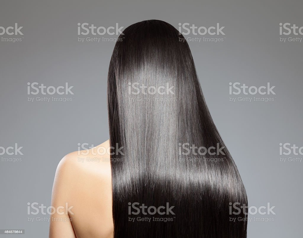 Long straight hair stock photo