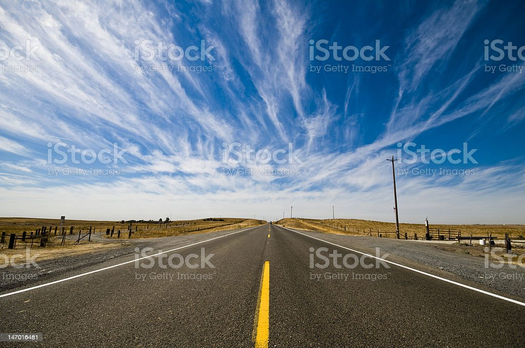 Long Straight Road royalty-free stock photo