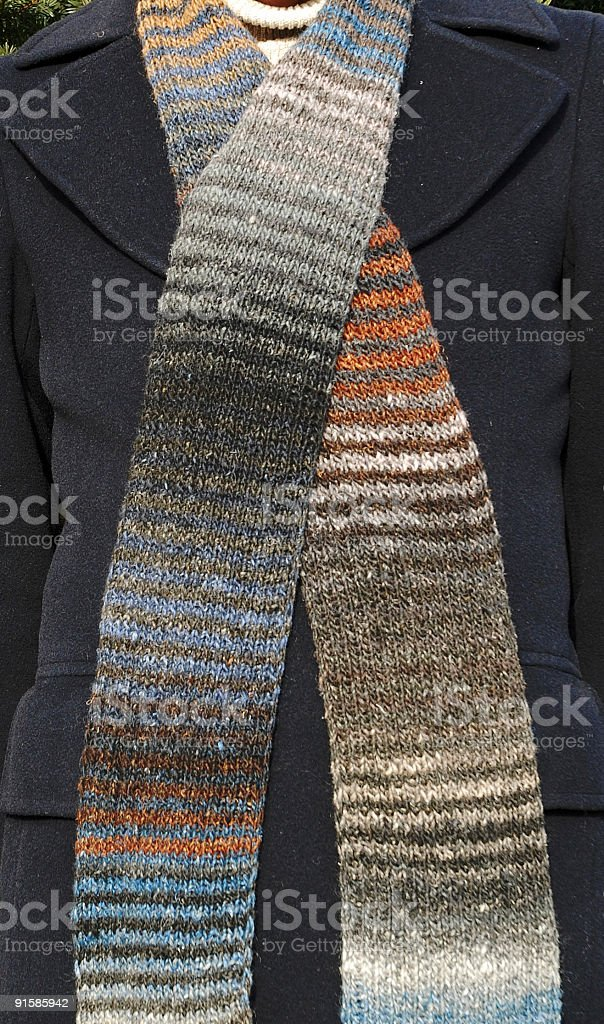 Long Striped Scarf royalty-free stock photo