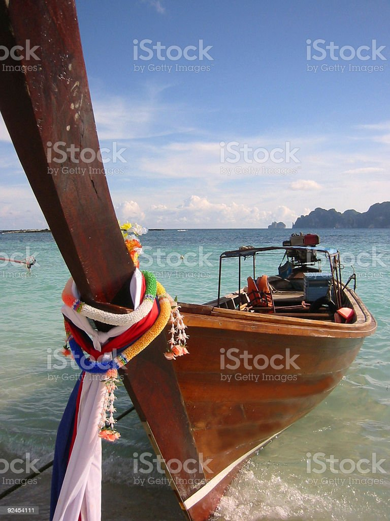 long tail boat koh phi pi thailand royalty-free stock photo
