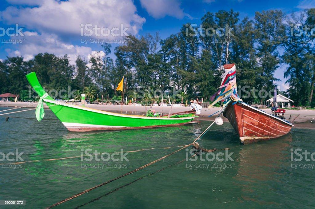 Long tail boat ,Phuket,Thailand stock photo