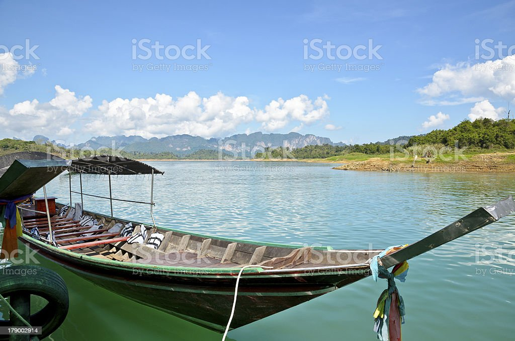 Long tail boat royalty-free stock photo