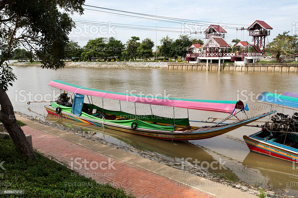 Long Tail Boat stock photo