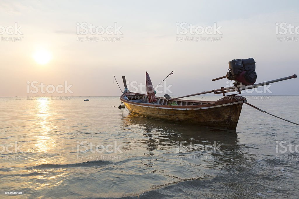 Long Tail Canoe royalty-free stock photo