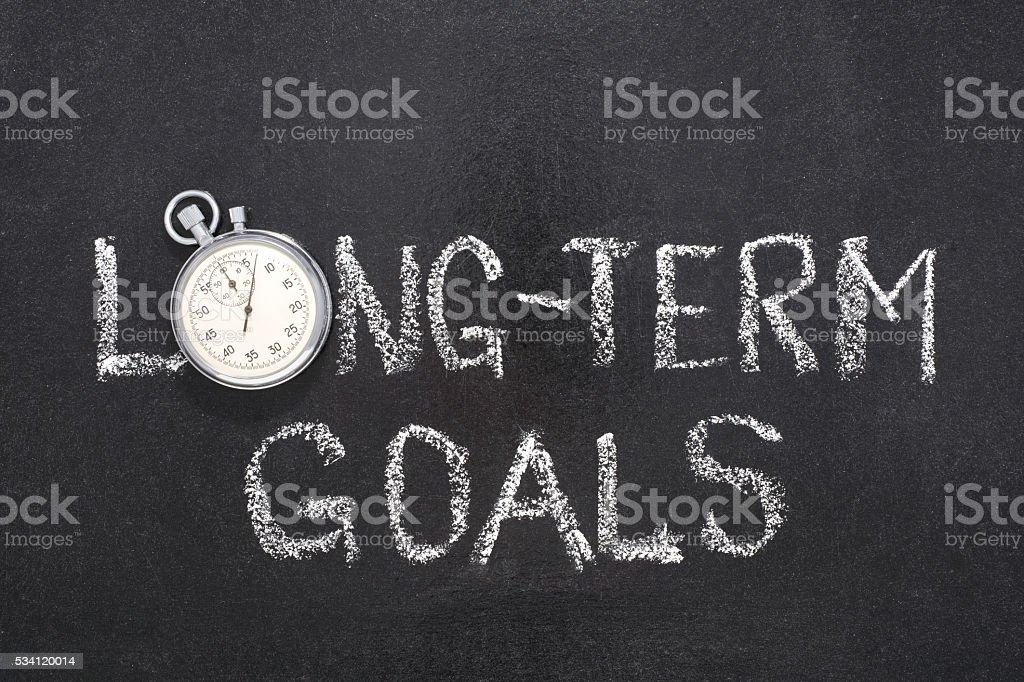 long term goals stock photo