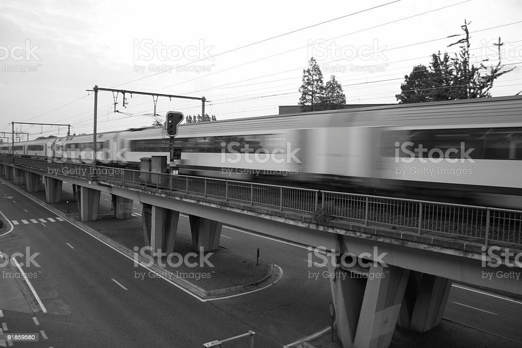 Long Train royalty-free stock photo