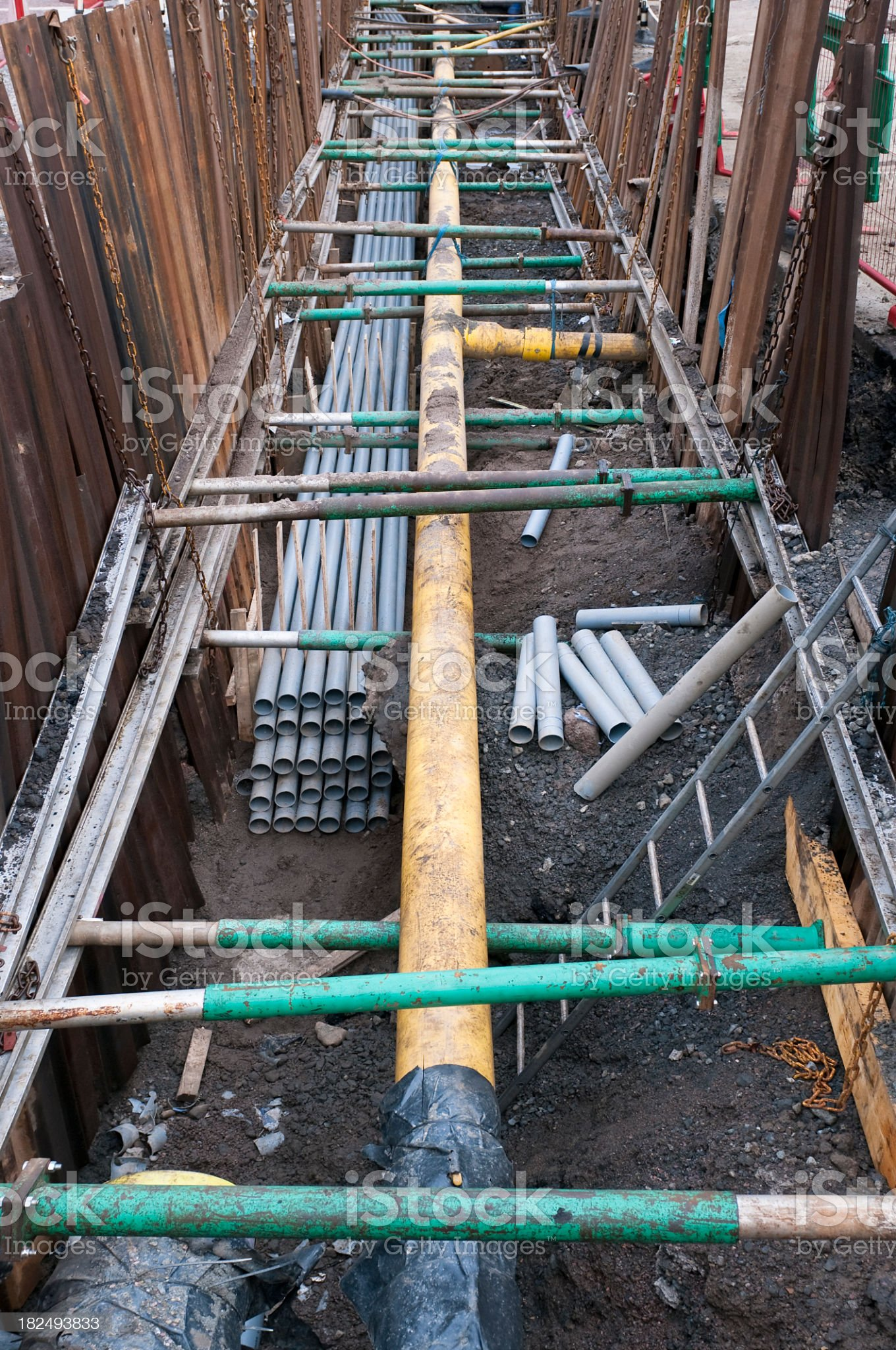 Long Underground Pipe royalty-free stock photo