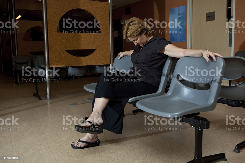 Long wait at hospital stock photo