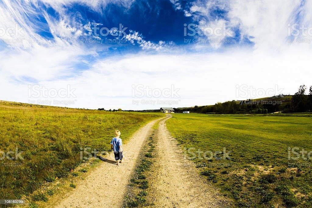 Long walk home royalty-free stock photo