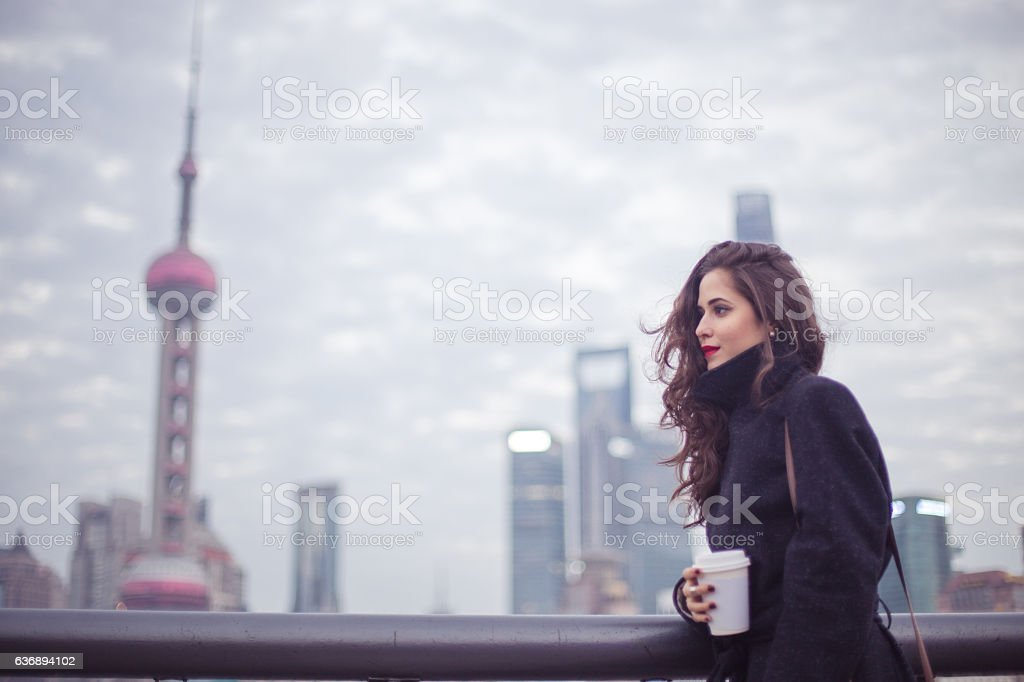 Long walks and cold days stock photo