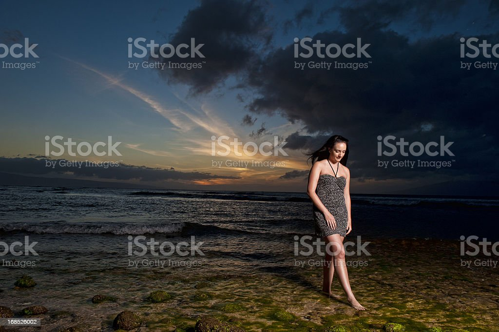 Long Walks on the Beach stock photo