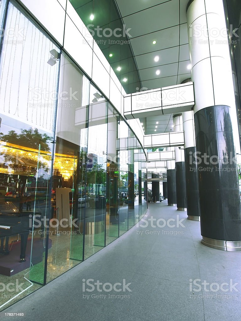 Long walkway royalty-free stock photo