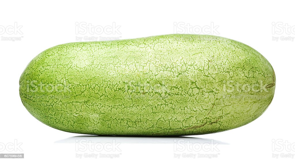 long watermelon isolated stock photo