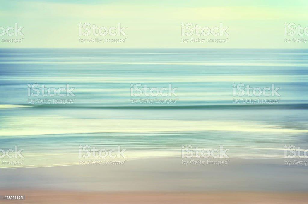 Long Wave Seascape stock photo