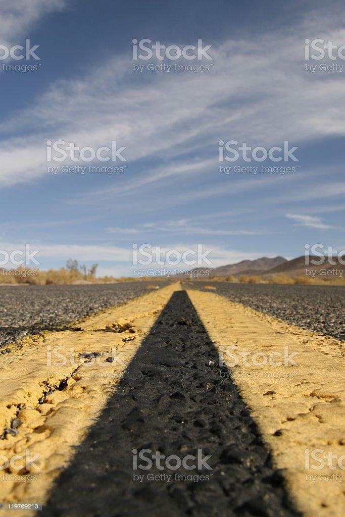 Long way ahead stock photo