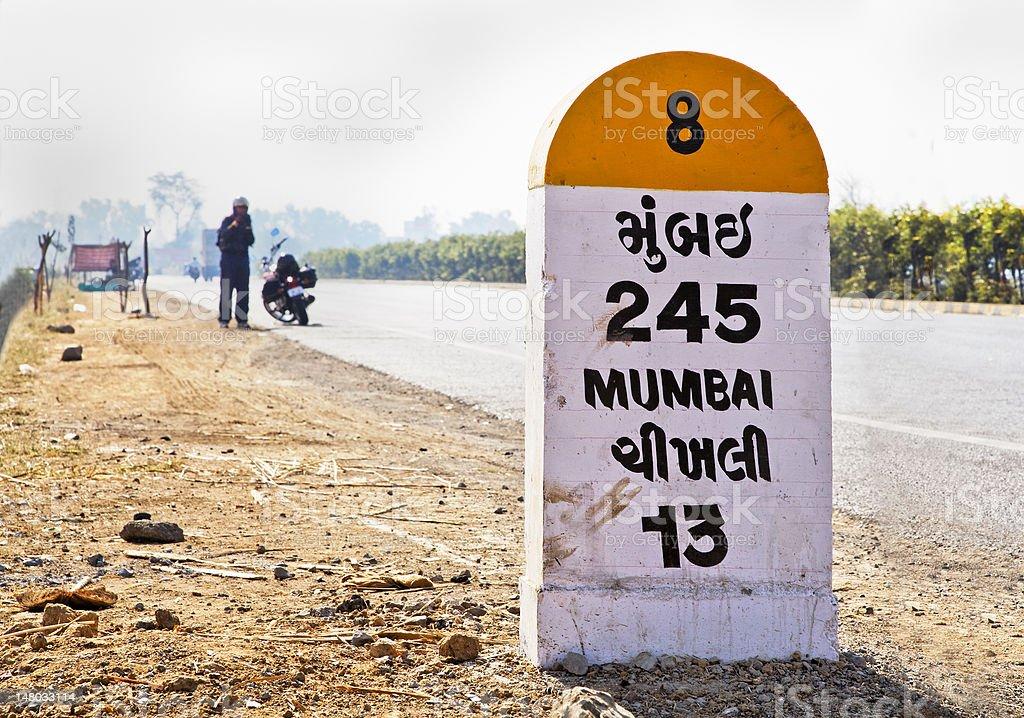 Long way to Mumbai royalty-free stock photo