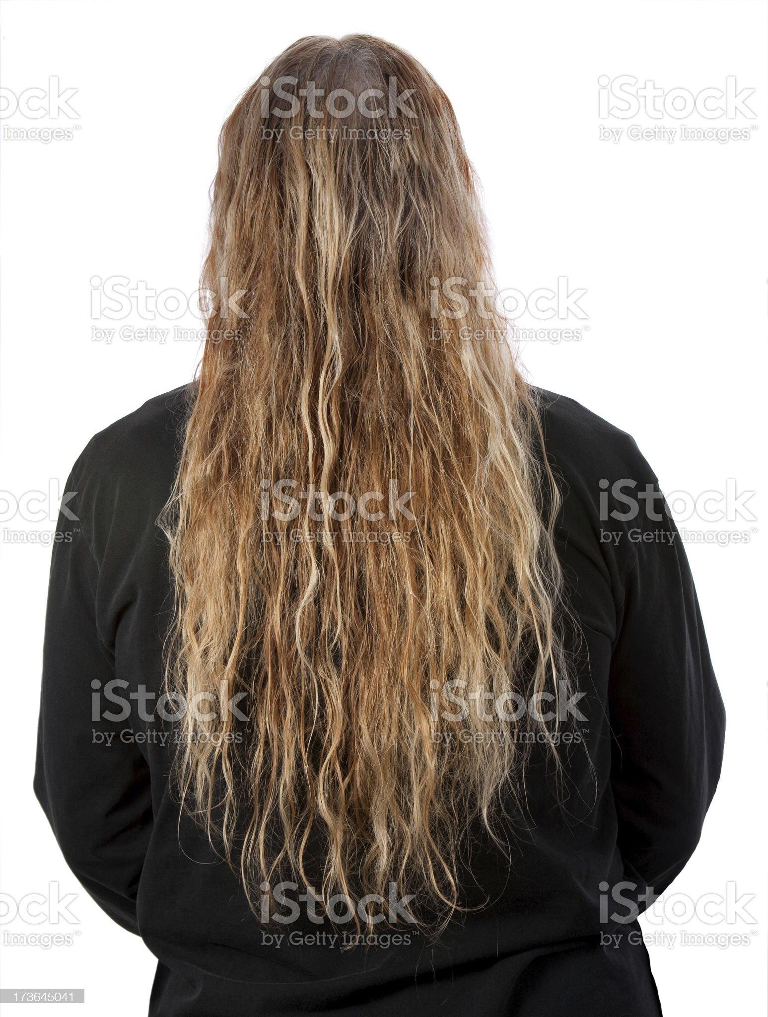 long wet tangled blonde hair royalty-free stock photo