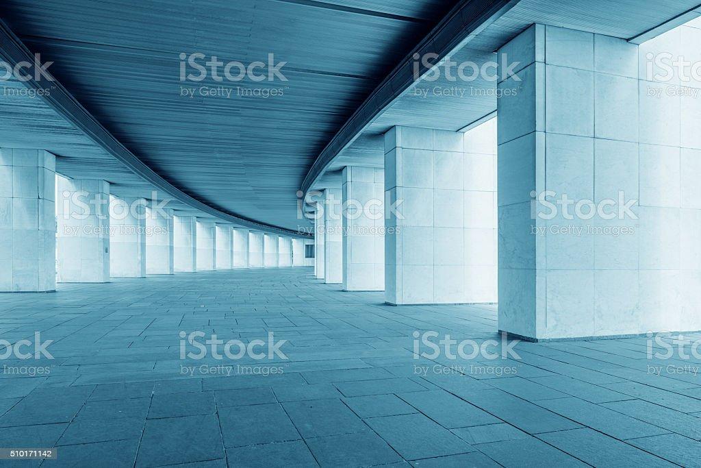 Long wide corridor. stock photo