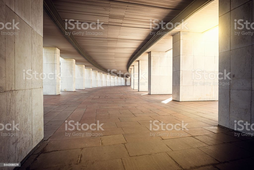 Long wide corridor. stock photo