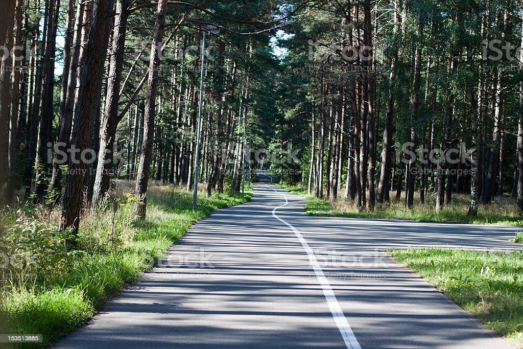 Long winding road stock photo