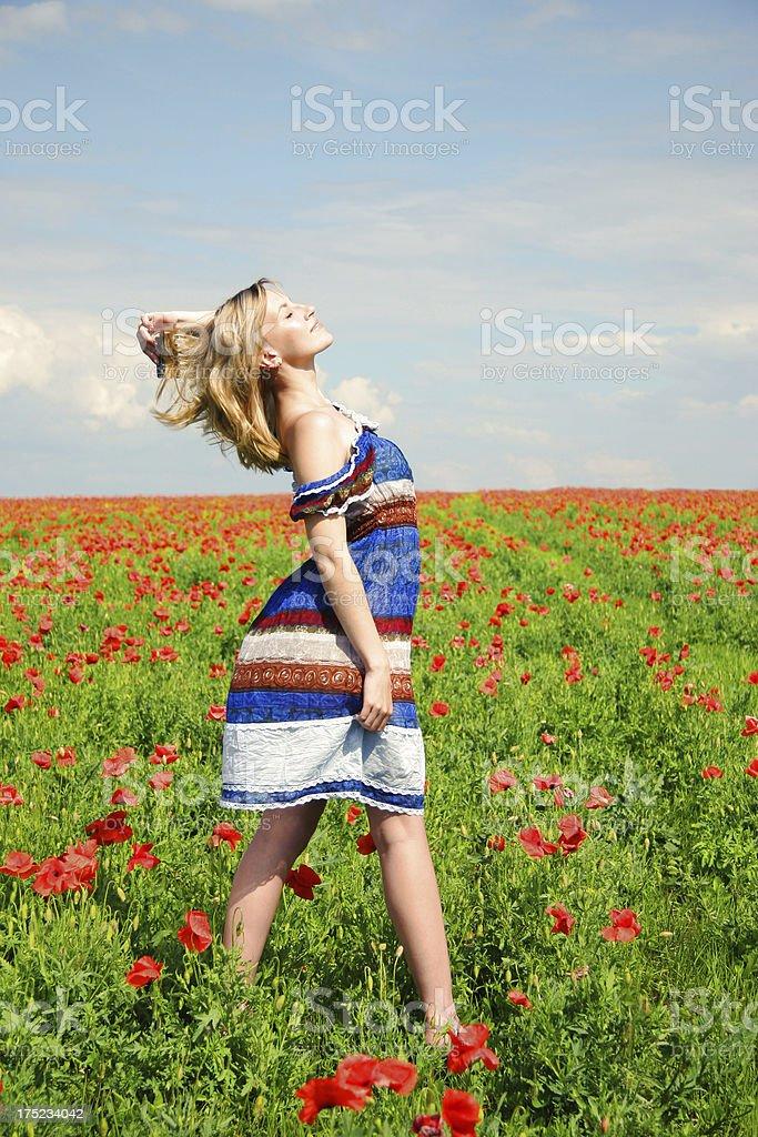 Long-awaited freedom royalty-free stock photo
