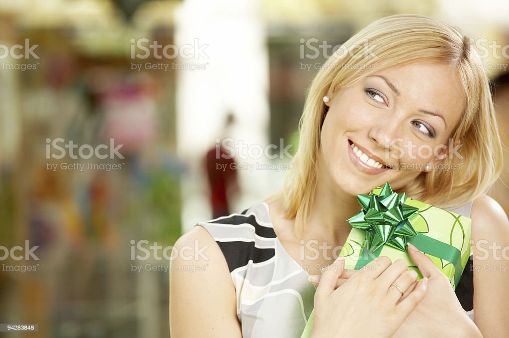 Long-awaited gift royalty-free stock photo