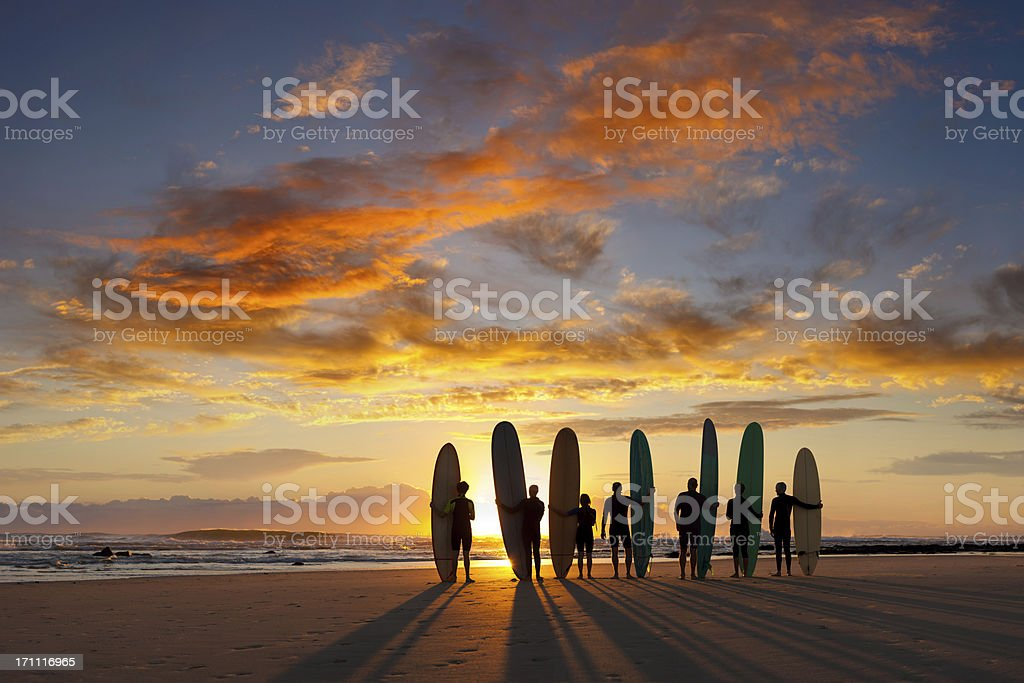 Longboard Sunrise stock photo