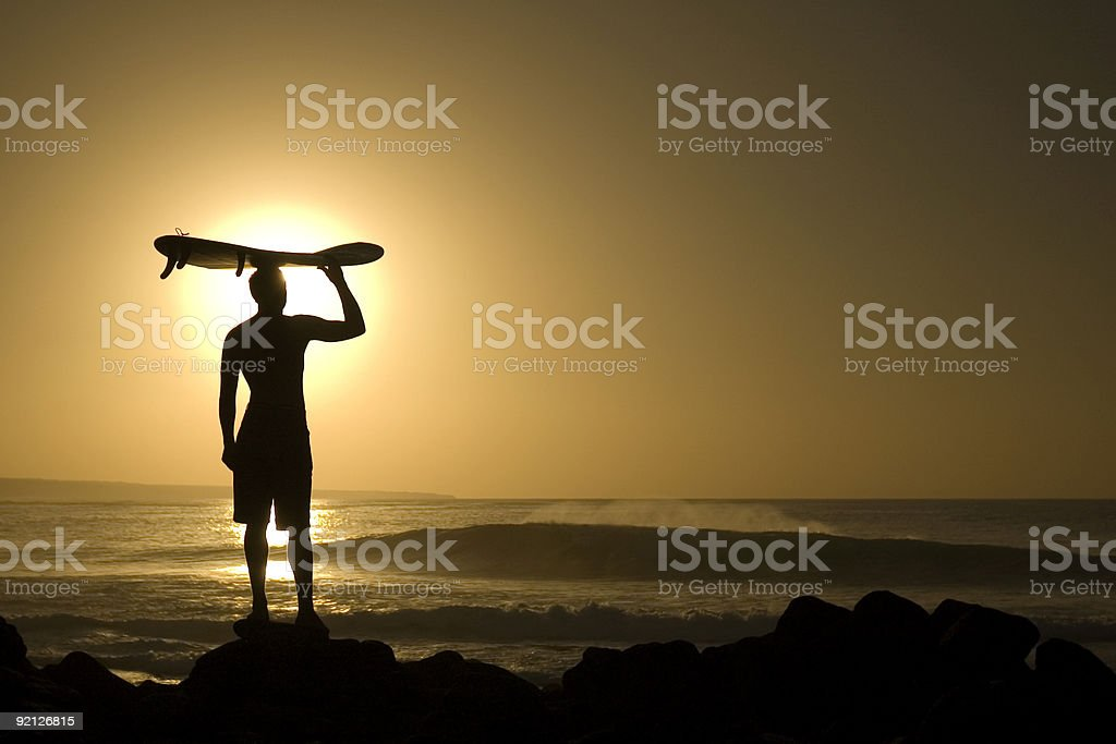 Longboarder at sunset 4 royalty-free stock photo