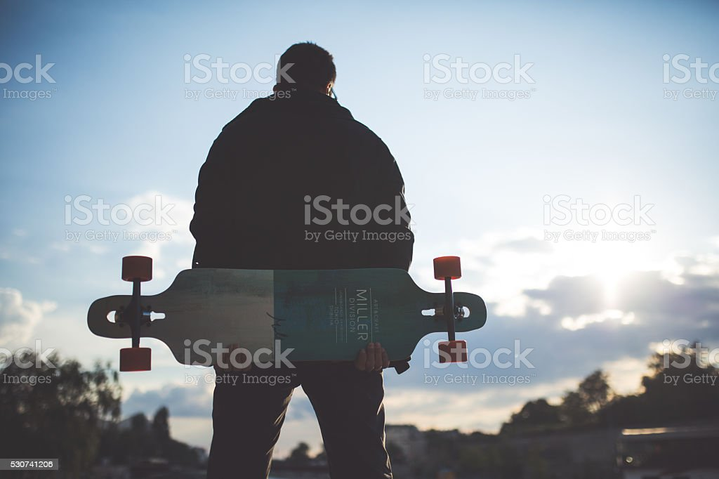 Longboarder stock photo