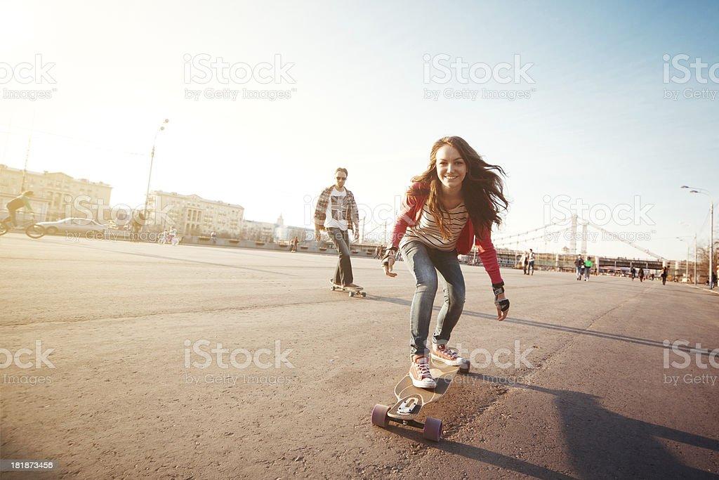 Longboarding stock photo