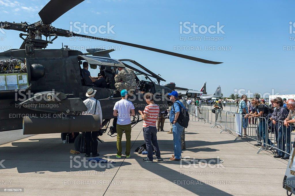 AH 64 longbow apache at ILA Berlin Air Show 2014 stock photo