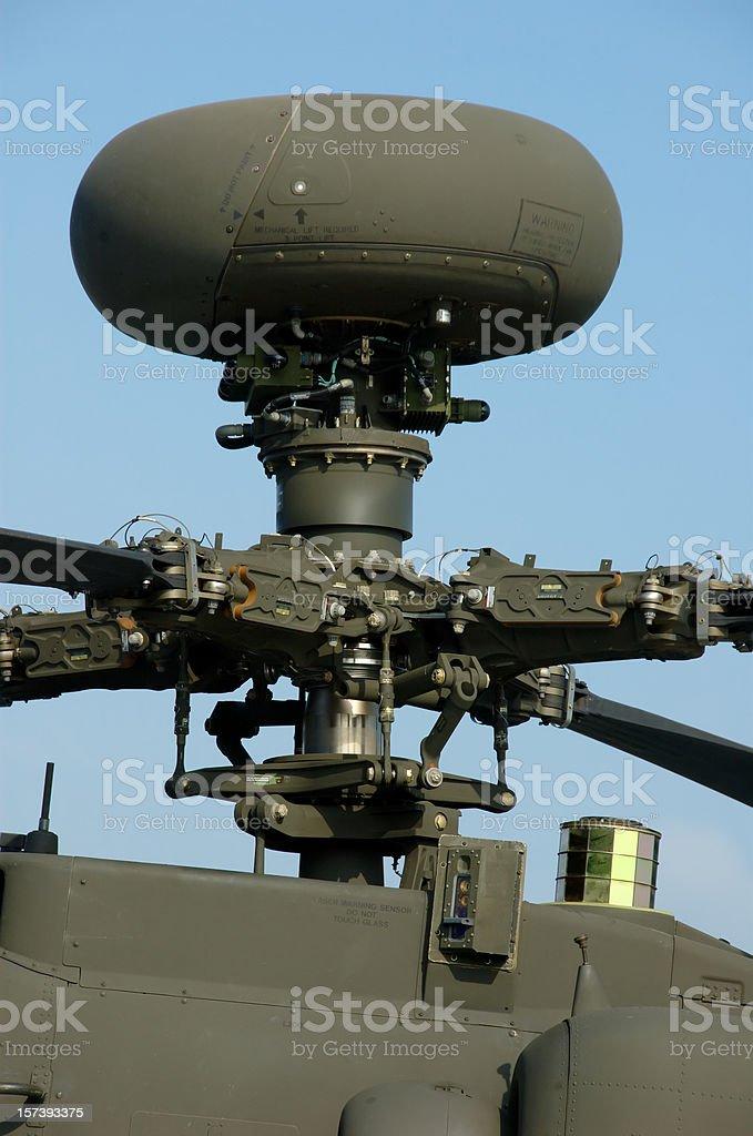 Longbow Radar (Apache Helicopter) royalty-free stock photo