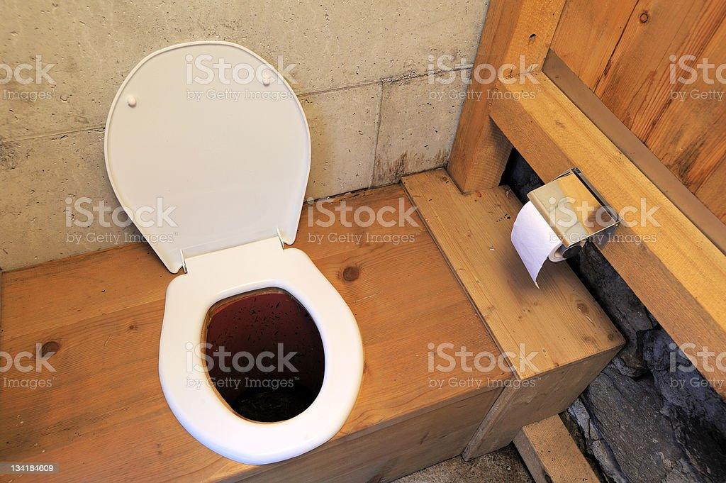 Longdrop toilet royalty-free stock photo