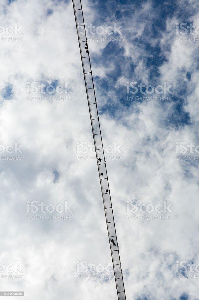 Longest pedestrian suspension bridge in the world stock photo