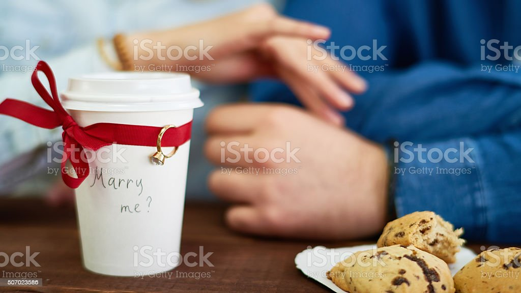 Long-expected proposal stock photo